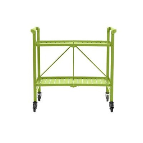 Cosco Smartfold Apple Green Serving Cart
