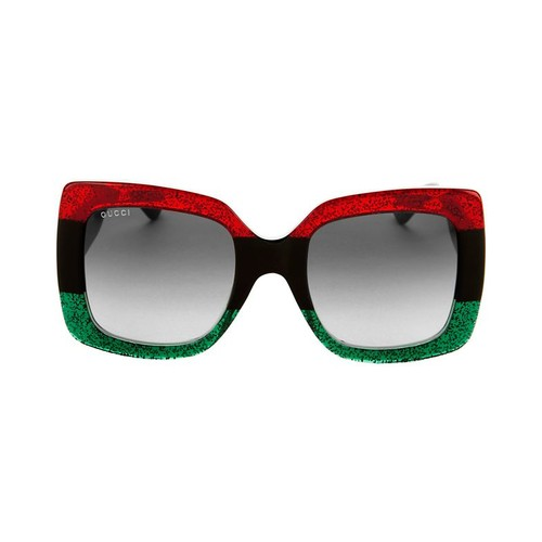 GUCCI Oversized Square Glitter Sunglasses
