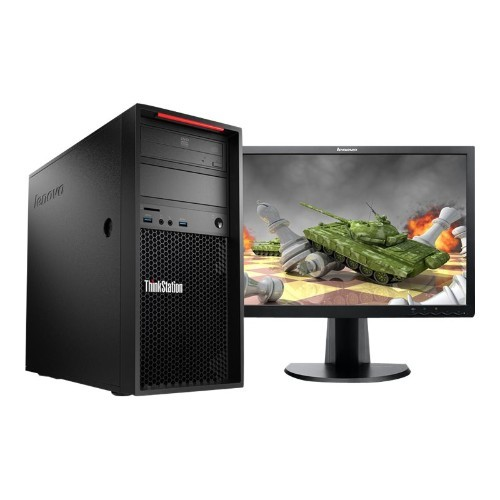 Lenovo ThinkStation P310 30AT - Tower - 1 x Xeon E3-1245V5 / 3.5 GHz - RAM 16 GB - SSD 256 GB - TCG Opal Encryption - DVD-Writer - HD Graphics P530 - GigE - Win 7 Pro 64-bit (includes Win 10 Pro 64-bit License) - monitor: none (30AT000PUS)