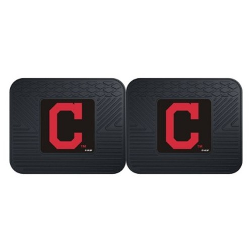Fanmats 12330 MLB Cleveland Indians Rear Second Row Vinyl Heavy Duty Utility Mat, (Pack of 2)