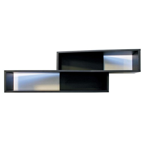 AZ Home and Gifts nexxt Luca 38 in. L MDF Angled Wall Shelf in Black