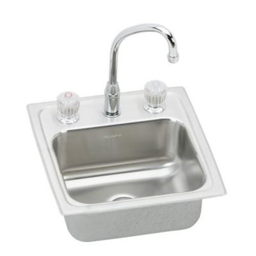 Elkay Pacemaker 15'' x 15'' Self Rimming Bar Sink w/ Faucet