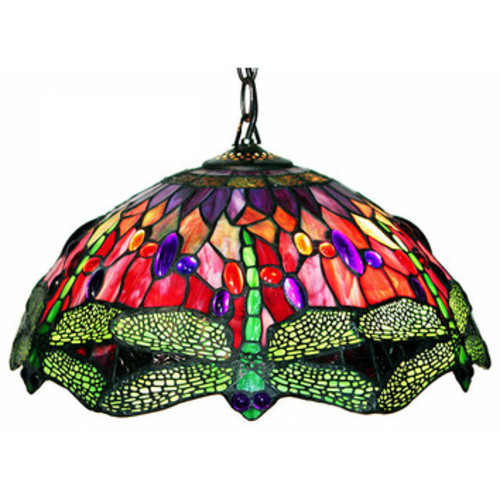 Dragonfly 2 Light Hanging Pendant by Warehouse of Tiffany