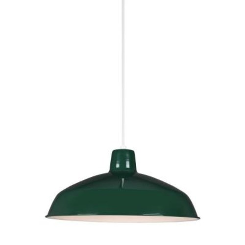 Sea Gull Lighting Painted Shade 14-Watt Emerald Green Integrated LED Pendant