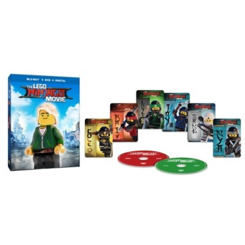 LEGO Ninjago Movie: Target Exclusive Lenticular Packaging + 6 Trading Cards (Blu-ray + DVD + Digital)