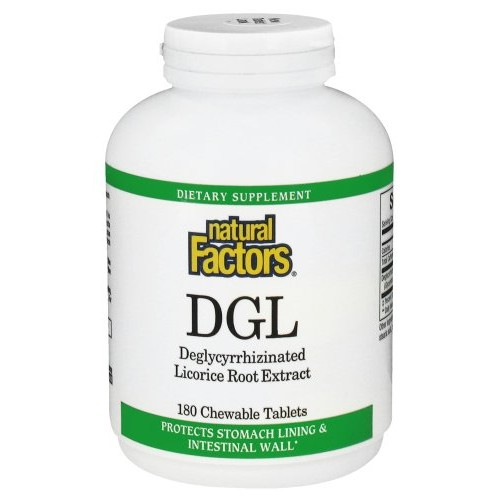 DGL Licorice Root Extract 90 Chewable Tabs by Natural Factors