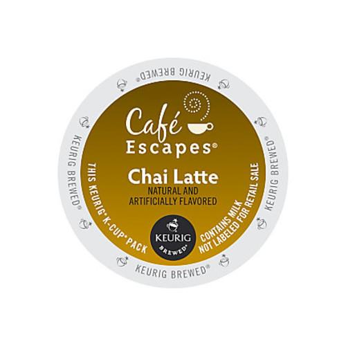 Cafe Escapes Chai Latte K-Cup Pods, Box Of 24