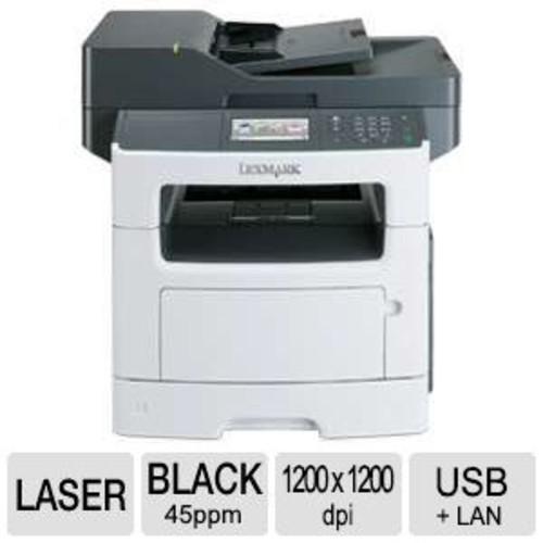 Lexmark MX511DE Mono Laser Multifunction Printer - Print/Scan/Fax/Copy, 1200dpi Print, 45ppm Print, Gigabit LAN, USB, Duplex Printing, 4.3 Touch Display, 100000Pgs Monthly Duty Cycle  35S5703