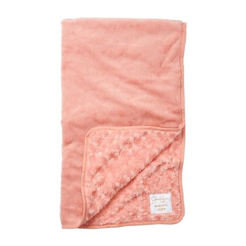 Curly Rosette/Minky Baby Blanket