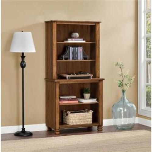 Ameriwood 9662096COM San Antonio Wood Veneer Bookcase, Tuscany Oak