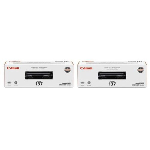 Canon 2x 137 Full Yield Cartridge f/ MF216n, MF227dw, MF229dw Laser Printers
