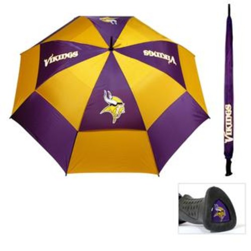 Team Golf Minnesota Vikings 62-inch Double Canopy Golf Umbrella