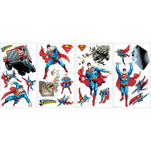 RoomMates Superman Day of Doom Peel and Stick Wall Decals