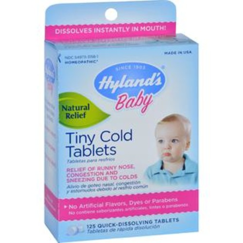Hyland's Hylands Homeopathic Baby Tiny Cold Tablets - 125 Tablets - HG