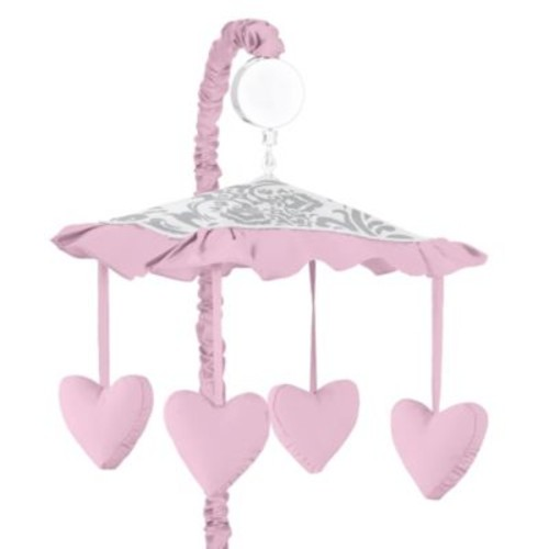 Sweet Jojo Designs Elizabeth Musical Mobile in Pink/Grey