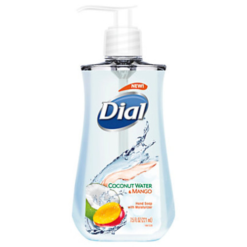 Dial Antimicrobial Liquid Hand Soap, Coconut Water And Mango , 7.5 Oz
