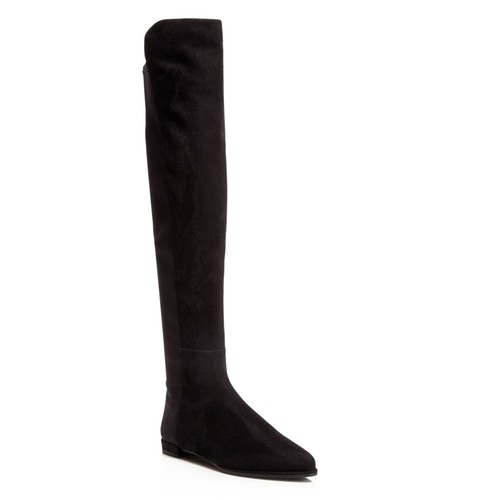 STUART WEITZMAN Gams Suede And Stretch Over The Knee Boots