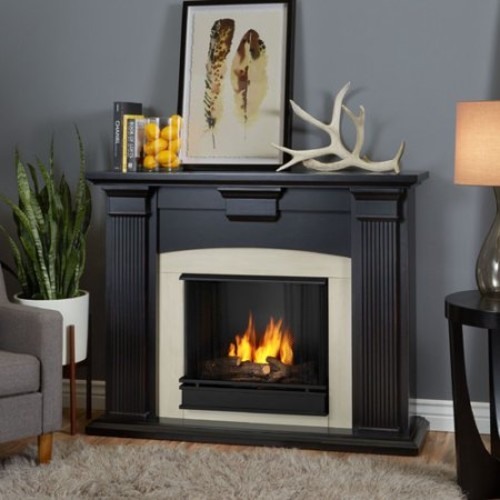 Real Flame - Adelaide Gel Fireplace - Dry Brush White