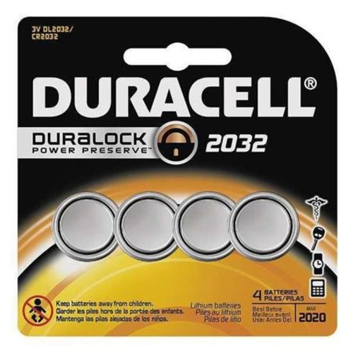 Duracell CR2032 Coin Cell Lithium Home Medical Battery, 3 Volt (4-pack)
