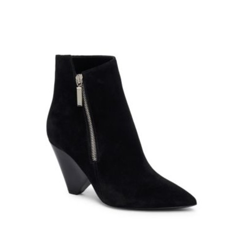 SAINT LAURENT Niki Suede Point Toe Booties