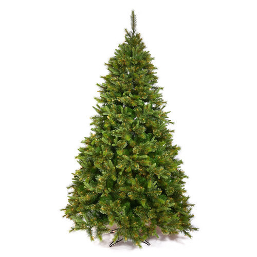 6.5' Green Cashmere Mixed Pine Artificial Christmas Tree with Stand