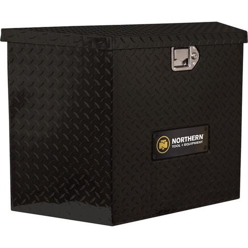 Northern Tool + Equipment Locking Trailer Tongue Gloss Black Tool Box  Tall Style, Aluminum, 34in.