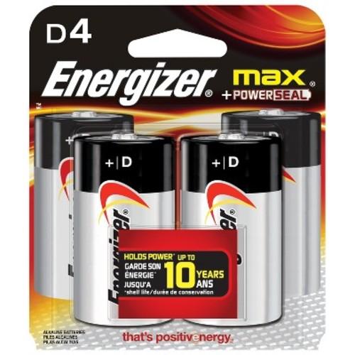 Energizer E95BP4 MAX D Alkaline Batteries, 4-Count [4 count]