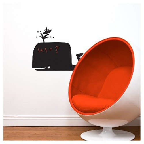 Whale Wall Decal - Black