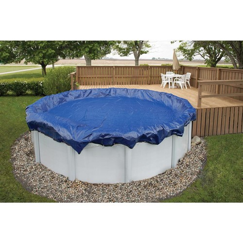Blue Wave 15-Year 28 ft. Round Royal Blue Above Ground Winter Pool Cover