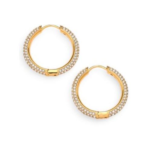 Pav Hoop Earrings/0.8