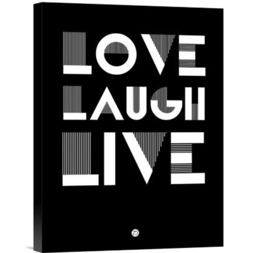 Naxart 'Love Laugh Live Poster 2' Textual Art on Wrapped Canvas; 16'' H x 12'' W x 1.5'' D