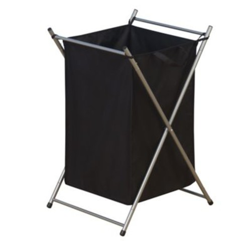 Household Essentials X-Frame Laundry Hamper in Silver