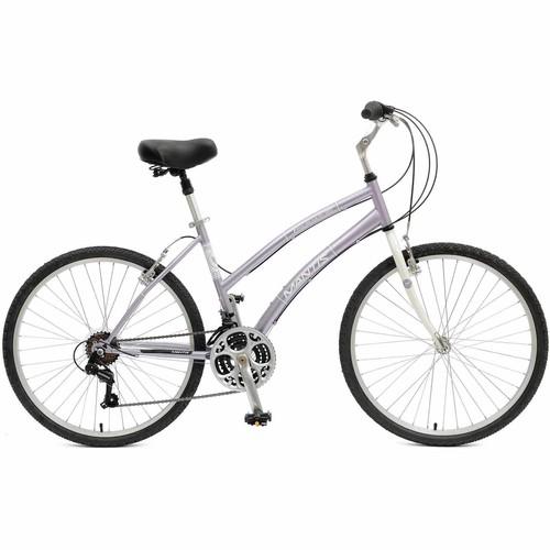 Mantis Premier 726L Comfort Bicycle, 26 in. Wheels, 17 in. Frame, Women's Bike in Purple