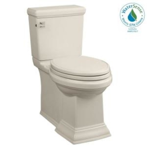 American Standard Town Square FloWise 2-piece 1.28 GPF Right Height Elongated Toilet in Linen