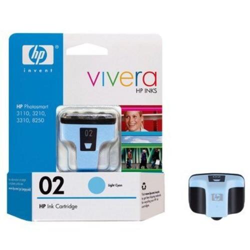 HP 02 Light Cyan Original Ink Cartridge For HP Photosmart 3110, 3210, 3310, 6580, 8250, C5140, C5150, C5180, C6150, C6180, C6185, C6240, C6250, C6280, C6286, C7150, C7180, C7250, C7280, C8150, C8180, D6160, D7145, D7155, D7160, D7245, D7255, D7260
