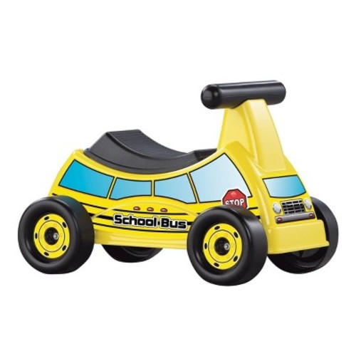 American Plastic Toys School Bus Ride-On Vehicle