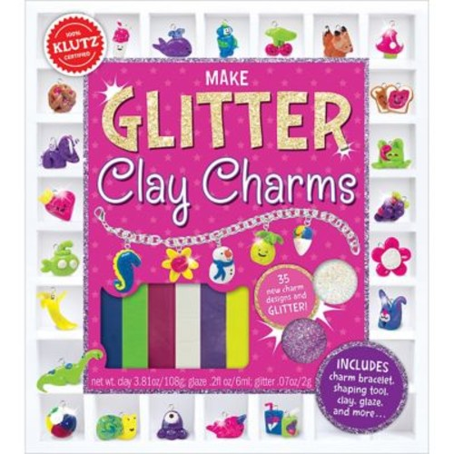 Glitter Clay Charms Book Kit-