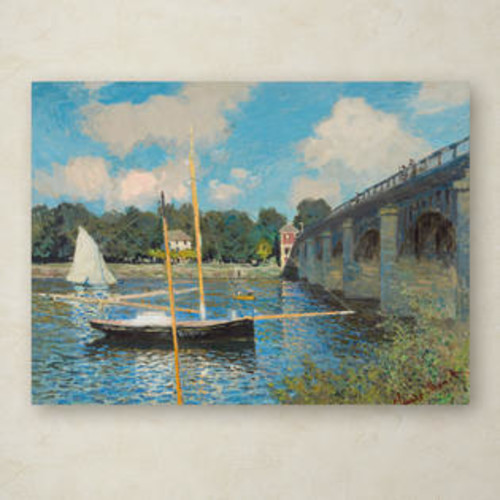 Trademark Global The Bridge at Argenteuil 1874 Canvas Art Size: 14