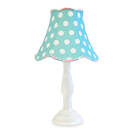 My Baby Sam Pixie Baby Lamp & Shade in Aqua