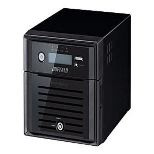 Buffalo TeraStation 5200 8TB NVR - (2x4TB), 2 x RJ45 Ports, 65 Watts, TCP/IP Protocols, 4 x USB Ports, Supports RAID, SATA II, 16 channels - TS5200D0802S