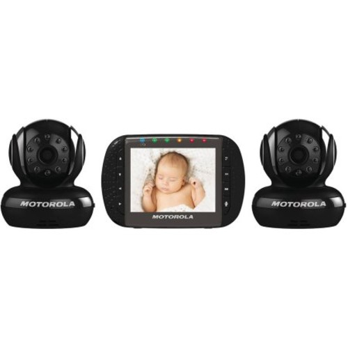 Motorola MBP43-B2 Digital Video Baby Monitor with 2 Cameras