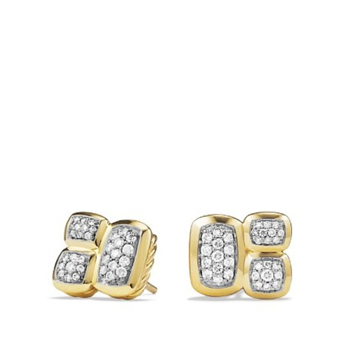 Confetti Stud Earrings with Diamonds in G