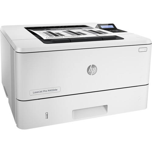 HP - LaserJet Pro m402dw Wireless Black-and-White Printer - Gray
