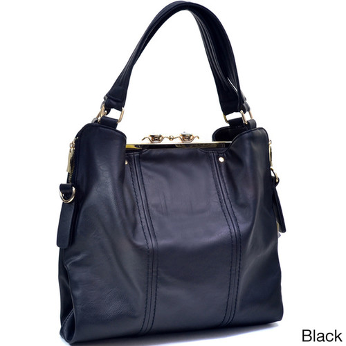 Jewel Snap-close Clutch Combo Tote Bag