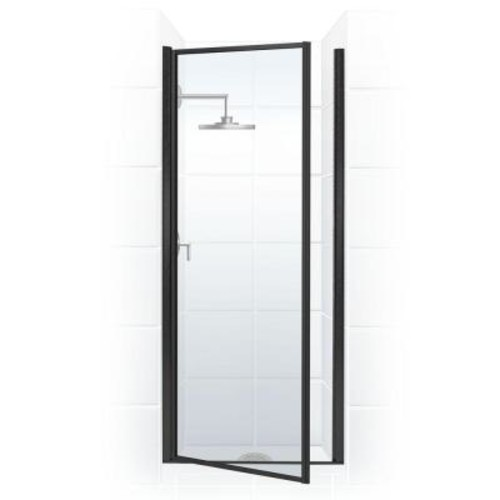 Coastal Shower Doors Legend Series 29 in. x 68 in. Framed Hinged Shower Door in Oil Rubbed Bronze with Clear Glass