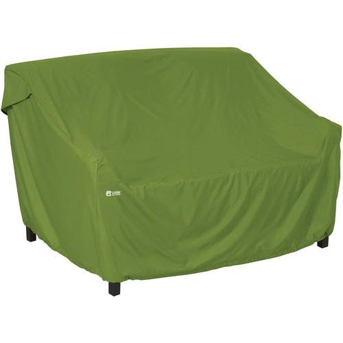 Classic Accessories Sodo Patio Furniture Storage Loveseat/Sofa Cover, Small, Herb