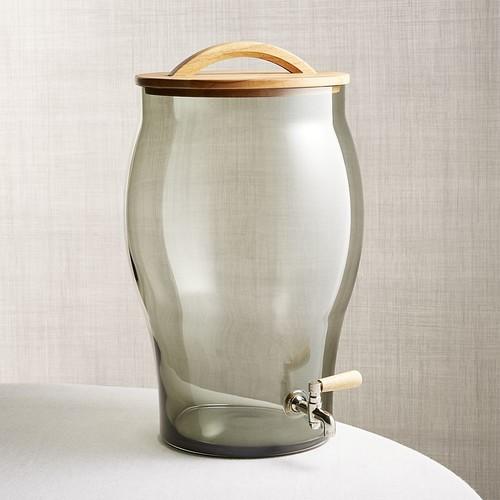 Arlo Smoke Glass Drink Dispenser