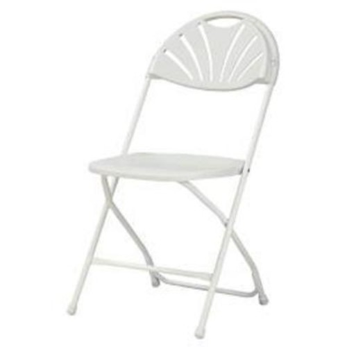 Cosco Commercial Heavy Duty Fan Back Resin Folding Chair with Comfortable Contoured Back in White (8-Pack)