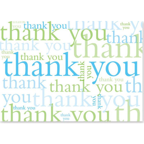 Many Thanks Boxed Note Card Set of 14
