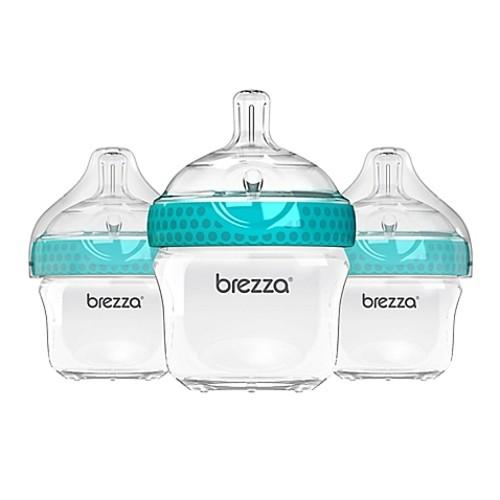 Baby Brezza 3-Pack Polypropylene Bottles in Blue